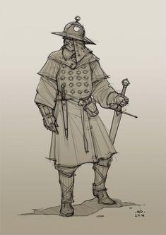 Borislav Mitkov - Illustration/Concept Art: Old Warrior, daily sketch by aurora
