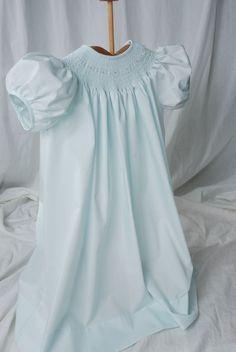 baby blue smocked dress