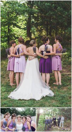 Bridesmaids in purple, Alton Mill Ontario- Alton Mill Wedding - Caledon Ontario Wedding Photography Bridesmaids, Bridesmaid Dresses, Wedding Dresses, Super Mom, On Your Wedding Day, Ontario, Wedding Photography, Poses, Weddings