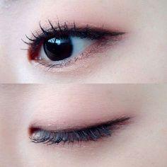 nice make up Korean Makeup Look, Asian Eye Makeup, Simple Eye Makeup, Natural Eye Makeup, Monolid Eyes, Monolid Makeup, Makeup Eyeshadow, Makeup Inspo, Makeup Inspiration