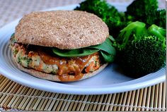 Thai Turkey Burgers with Peanut Sauce via Iowa Girl Eats