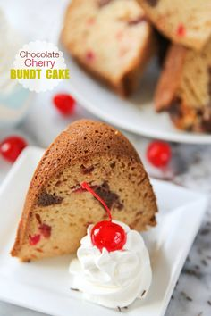 Chocolate cherry bundt cake that's marbled to perfection. This pound cake is perfect for potlucks and Friday night dessert alike!