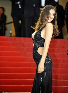 """Irina Shayk, Red Carpet - Premiere of """"All Lost"""", Cannes - Dress: Roberto Cavalli; Photo: The Daily Mail"""