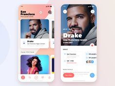 Entertain App Concept designed by Halo Lab. Connect with them on Dribbble; Tablet Ui, Mobile Web Design, Mobile App Ui, Daily Ui, Show And Tell, Ui Ux, User Interface, Ui Design, Halo