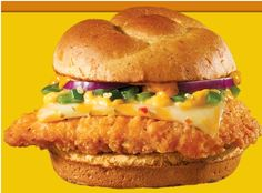 Wendy's is once again promoting its Jalapeño Fresco Spicy Chicken Sandwich for a limited time only.  This sandwich features a spicy chicken breast topped with fresh, diced jalapeños, ghost pepper sauce, and Colby pepper jack cheese on a red jalapeno bun.