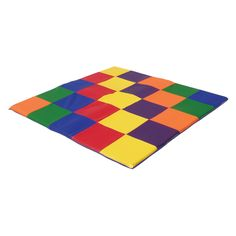 Have to have it. ECR4KIDS Patchwork Toddler Mat - Primary - $114 @hayneedle
