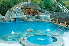 Pool--If we have a pool, there must be a hot tub, and a water slide, and a…