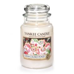 Cream Colored Ponies™ : My Favorite Things™ Limited Time Collection : Yankee Candle : Delicious sugar cookie dreams ride on the scent of creamy, buttery-rich vanilla icing.