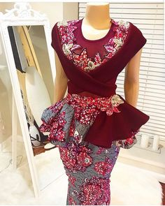 Here are amazing looks of 2019 ankara print fashion. 100 beautiful pictures of ankara styles for this week inspiration. Ankara will always have an outstanding and exceptional place in our African Dresses For Women, African Print Dresses, African Attire, African Wear, African Prints, African Women, African Fashion Ankara, African Print Fashion, Africa Fashion