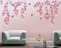 Tree wall decals nursery wall decals vinyl vine wall by cuma, $69.00