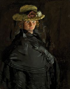 William Orpen (1878-1931)Portrait of Grace, 1907Oil on canvas signed lower right: Orpen 90 x 70 cm M72
