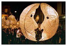 Lantern Making, How To Make Lanterns, Balloon Lanterns, Paper Lanterns, Solstice Festival, Paper Balloon, Food Posters, The Sky Is Falling, Moon Shine