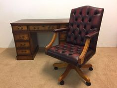 New Gainsborough Deluxe Office Chair Genuine leather!!!