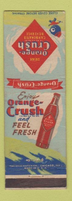 Matchbook Cover - Orange Crush Soda | eBay
