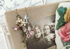 fairyTalesupcycled vintage earrings dangle earrings fairy by Arey