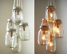 Really cool mason jar lights. Totally easy and low budget!