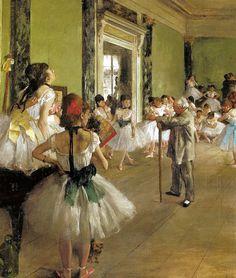 Autore: Edgar Degas. Nome: Classe di danza. Data: 1873-1876. Tecnica: Olio su tela. Collocazione: Parigi, Musèe d'Orsay.