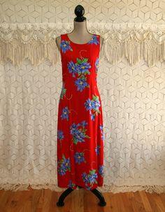 90s Women Summer Dresses Sleeveless Floral Grunge Boho Beach