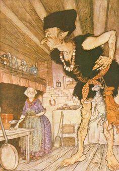 アーサー・ラッカム『イギリス妖精物語(『ジャックと豆の木』)』(1918年)の挿絵