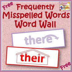 Free Word Wall of Easily Confused Words #homophones