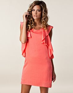 Granna Dress - Vila - Coral - Dresses - Clothing - NELLY.COM UK
