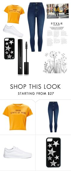 """""""Babe state of mind💛"""" by teighanemillee ❤ liked on Polyvore featuring Miss Selfridge, Vans and Forever 21"""