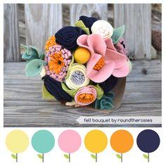 Modern Bouquet Color Inspiration