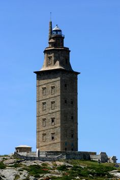 Tower of Hercules Lighthouse, La Coruna, Spain, 110AD - the oldest lighthouse in the world - 1999, UNESCO, World, Heritage, Site, 2009