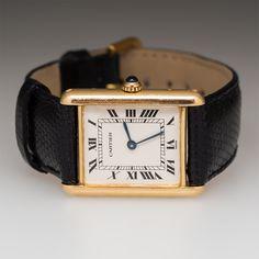 Ladies Cartier Tank Wrist Watch 18K Gold