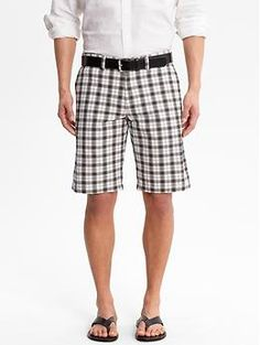 Banana Republic plaid cotton short