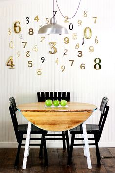 fall home tour: vintage house numbers as artwork