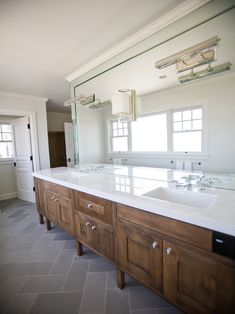 Like overall color scheme here (not looking at materials in particular here,) Like Herringbone floor.Slate Grey Bathroom Floor Design, Pictures, Remodel, Decor and Ideas - page 3 Check out Dieting Digest Grey Bathroom Floor, Slate Bathroom, Grey Floor Tiles, Grey Bathrooms, Bathroom Flooring, Kitchen Flooring, Modern Bathroom, Master Bathroom, Bathroom Cabinets
