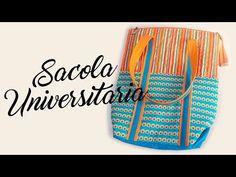 Passo a passo: Sacola Universitária Fácil e Espaçosa - YouTube