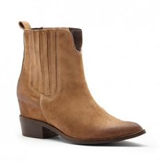 Women's Tan Suede 2 1/2 Inch Suede Boot | Meyer by Matisse
