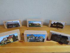 Include pictures of children's homes and places around town in the block center.