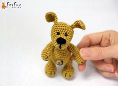 Miniature dog, plush stuffed dog, tiny puppy, crochet doggie, amigurumi dog, crochet animal - Joey the Little Puppy