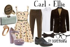 Carl and Ellie couple DisneyBound. Change the shoes on ellie tho... don't like those