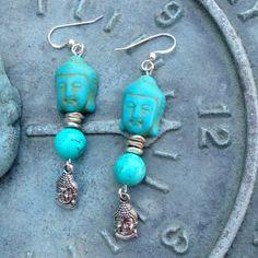 Buddha Earrings by happytrailsmichelle on Etsy, $18.00