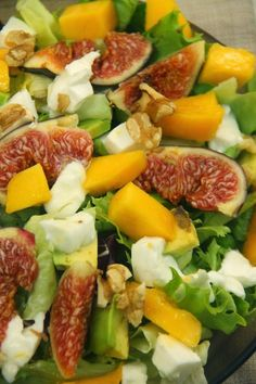 Appetizer Salads, Appetizers, Cooking Recipes, Healthy Recipes, Mozzarella, Cobb Salad, Salad Recipes, Mango, Food Porn