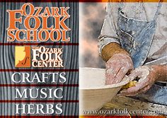 """Ozark Folk Center State Park, Mountain View, Arkansas. This Ozark Mountain town is so quaint and is called the """"Folk Music Capital of the World"""" and home to the Ozark Folk Center State Park. You can watch craftsmen make heritage crafts like pottery, baskets and quilts  as well as take classes in arts like herb growing and weaving. Listen to local musicians who play folk instruments handed down generation to generation. A lovely mountain town that is beautiful and rich with American heritage."""