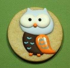 owl cookie~        By Frost Me Blog, #, Orange