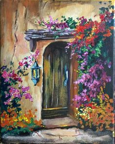 Tuscan Garden Door by Ginger Cook Jan. 7th YouTube video lesson at  Ginger Cook Live. (2 cookie)