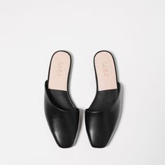 // FLAT ASYMMETRIC SLIPPER SHOES, Zara