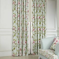 (Two Panels) Country Flower and Leaves Eco friendly Curtain – AUD $ 108.23