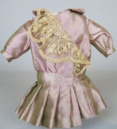 Irridescent Lilac Antique Style Dress for German or French Doll