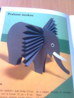 Slon figurka s velkýma ušima Diy Paper, Interior Design Living Room, Safari, Diy And Crafts, My Favorite Things, Hana, Education, Bedroom, Kitchen
