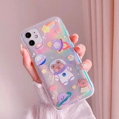 Cute Starry Universe Cartoon Bear Korean Phone Case For iPhone 11 Pro Max XR X Xs Max 7 7 Puls 8 Puls Cases Soft IMD Cover