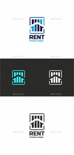 RENT  Professional logo template for all creative business company.  The set includes: vector source files AI and EPS  Editable fo