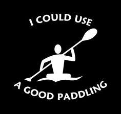 Good+Paddling+Kayaker+Decal+Kayaking+Sticker+Kayak+Car+12+colors+