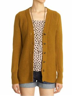 Im pretty sure I have this shirt, but I need the mustard cardigan
